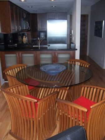 By the Sea Condos: The kitchen and dining room area.