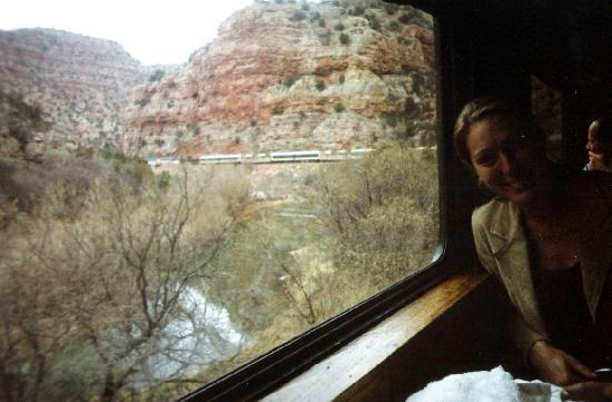 Verde Canyon Railroad: Winter view from first class car