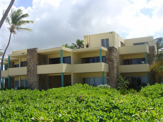 The Palms at Pelican Cove: rooms from the beach.