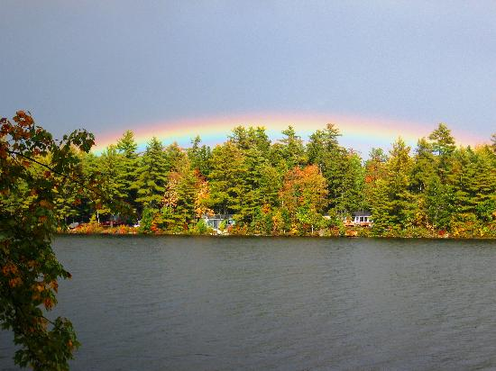 Pitcher Pond : Fall Rainbow