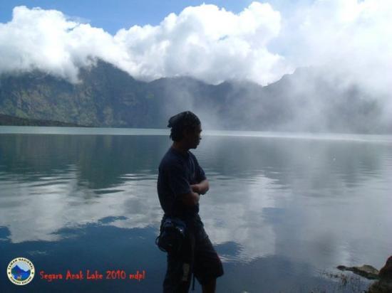 มาตาราม, อินโดนีเซีย: danau segara anak 2010m taman nasional gunung rinjani
