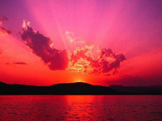 Wonsan, Corée du Nord : sunset