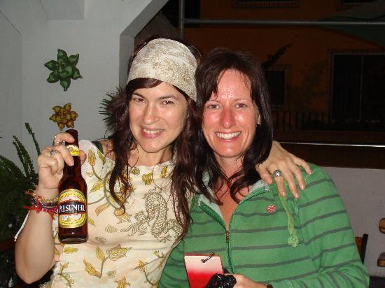 Cocos Hotel: Andrea (me) and Shiobán (Ireland) I  miss you much! Had a great time together!