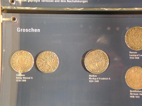 Money Museum (Geldmuseum der Deutschen Bundesbank): Prager Groschen, earliest large silver