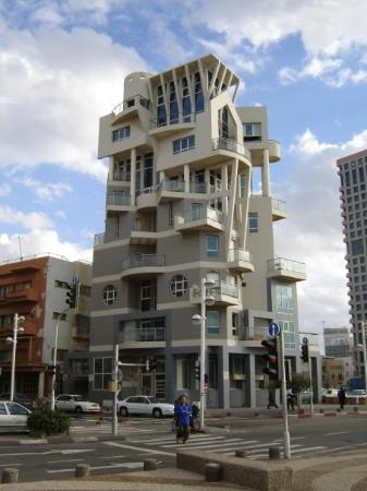 Funky building in Tel Aviv