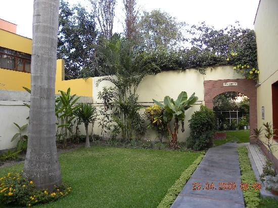 Lima, Peru: view of one of several inner gardens