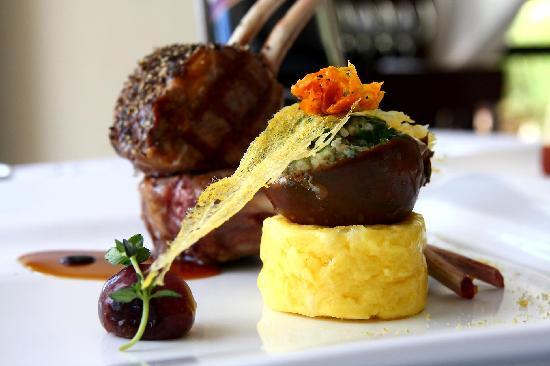 Chilled lamb rack picture of ferdinand 39 s kota kinabalu for Fine dining at home recipes