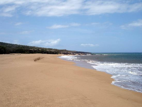 Νησί Lanai, Χαβάη: Polihua Beach looking towards the west