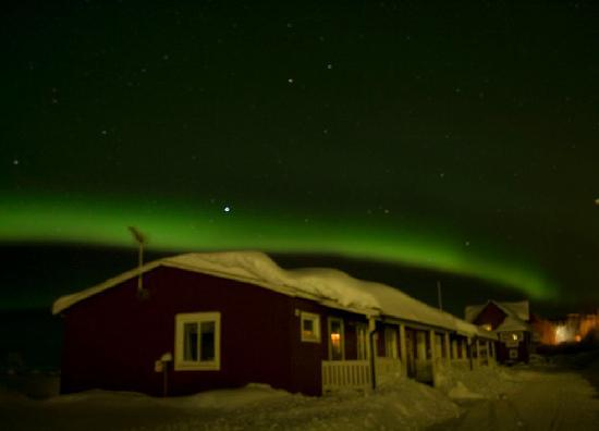 Porjus, Sweden: Snow and Northern Lights