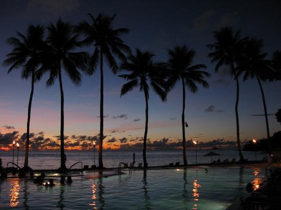 beautiful sunset at Palau Pacific Resort