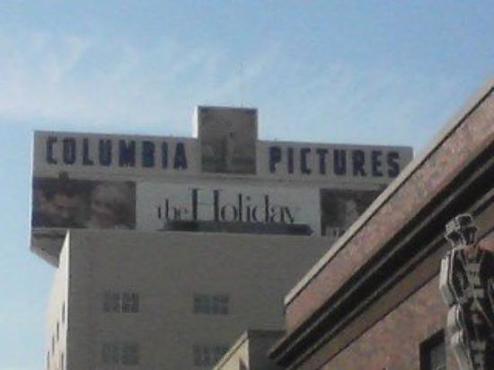 columbia pictures sign above a building on the sony picture studio