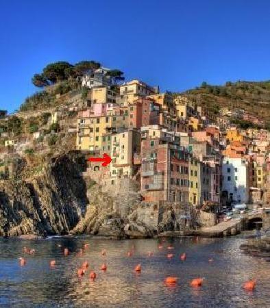La Scogliera: appartamento visto dal mare