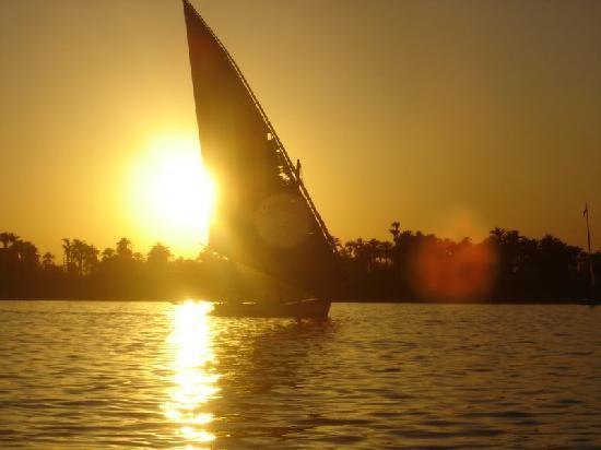 Desert Paradise Lodge: sailing on the Nile