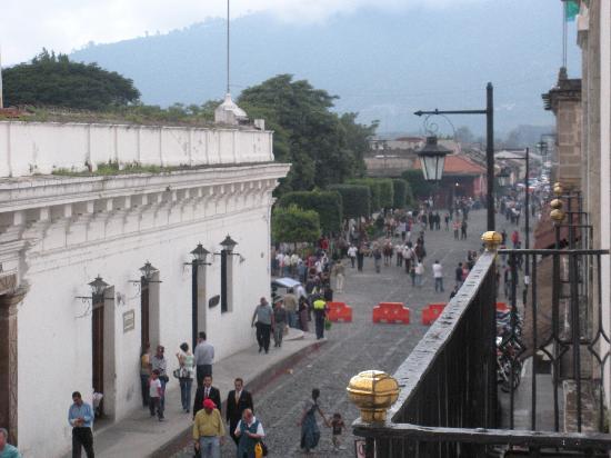 Palacio de Doña Leonor: view from our balcony