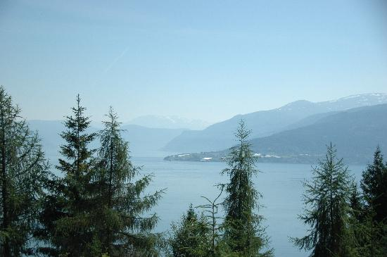 View over Balestrand from walking track