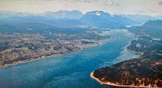 Campbell River from the air.. on a clear day