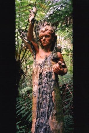 Mount Dandenong, Australie : One of many fantastic sculptures at the William Ricketts Sanctuary, just outside of Melbourne