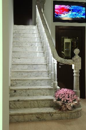 Hostemplo Sagrada Familia: escalera
