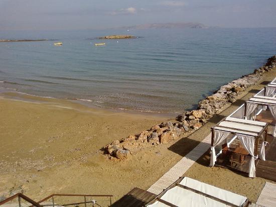 Hotel Knossos : Vue plagedu restaurant