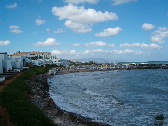 Hotel Knossos : vue plage lendemain de mauvais temps