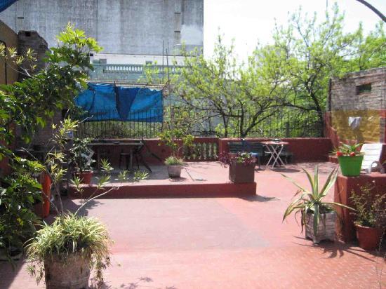 Hostal El Candil: terrasse