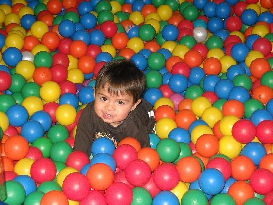 Jungle Rapids Family Fun Park: Happy guy in one of the two huge ball pits