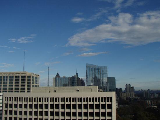 The Georgian Terrace Hotel: View out the side towards midtown 11th flr