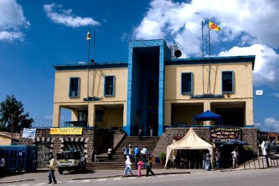 Gonder, Ethiopie : EL edificio mas grande de la ciudad.