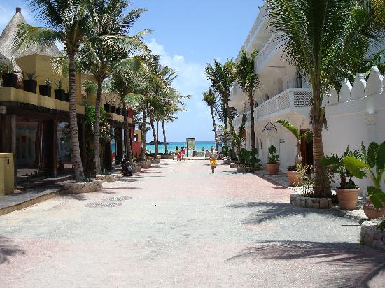 Standing in front of hotel facing beach picture of for Best boutique hotels playa del carmen