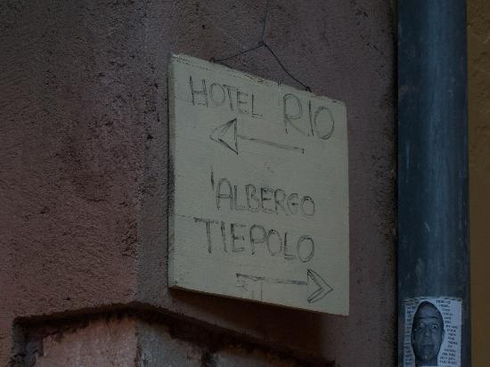 Hotel Tiepolo : Hand-written hotel sign :)