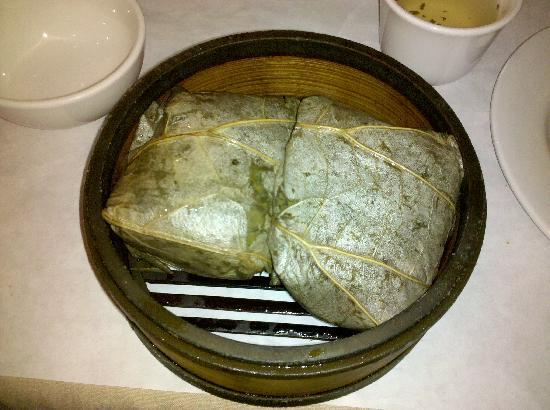 Super Star Asian: sticky rice wrapped in grape leaves