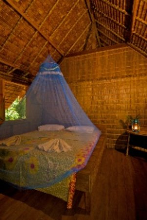 Tetepare Island Eco-lodge: Guests stay in traditional Melanesian leaf houses