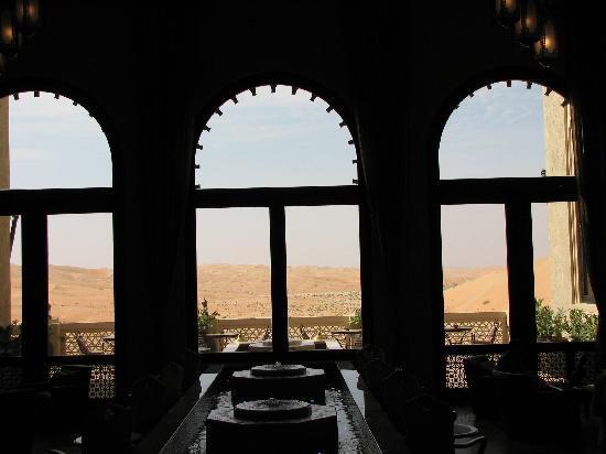 Qasr Al Sarab Desert Resort by Anantara: View from the reception area