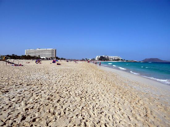 View of hotel from the beach picture of clubhotel riu for Riu oliva beach fuerteventura