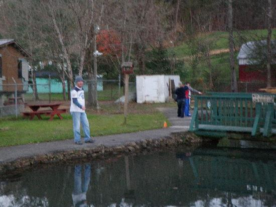 Still fishing picture of english mountain trout farm for Trout farm fishing