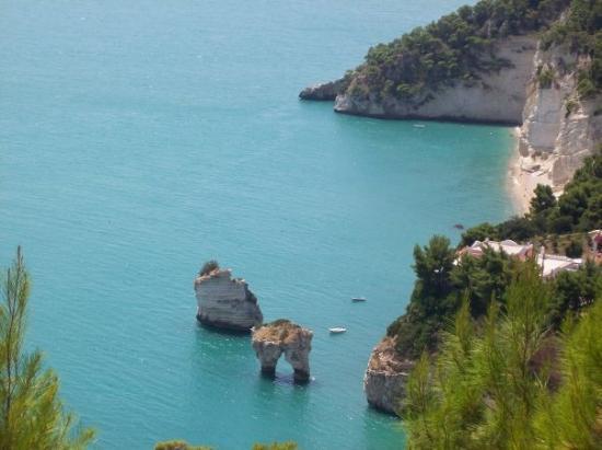 Vico del Gargano, Italie : baia delle zagare. Gargano Puglia.