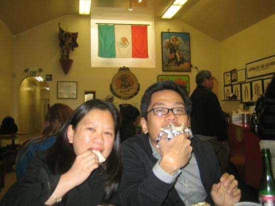 San Mateo, CA: Enjoying a Burrito with Nikki