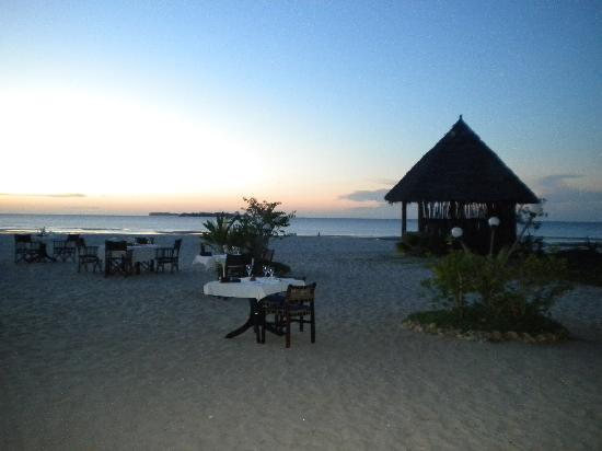 Mtoni Marine Hotel: The beach and restaurant