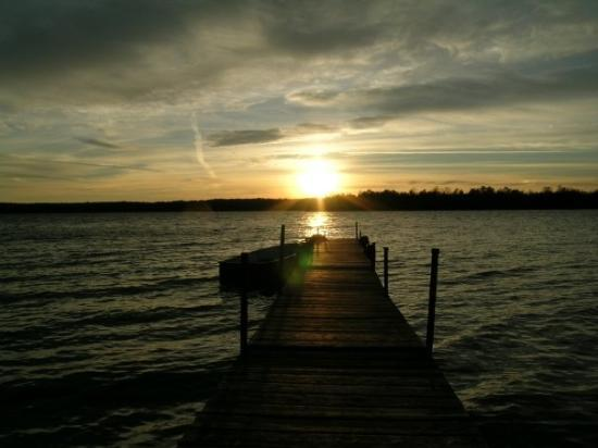 Baileys Harbor, Висконсин: Another beautiful sunset on Kangaroo Lake
