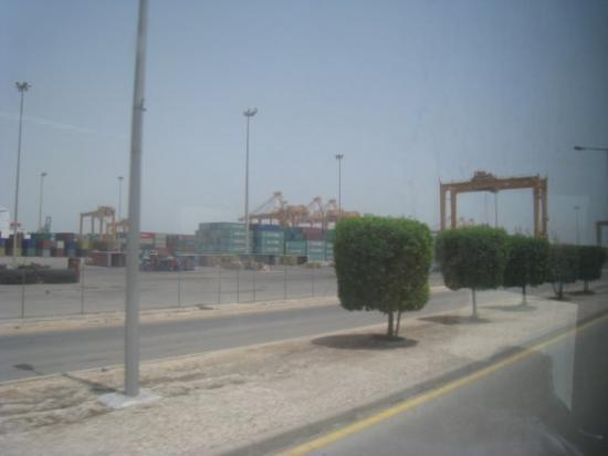 Dammam, Saudi Arabia: the Port yard iwth shipping crates
