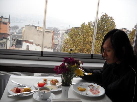 Hotel İpek Palas: View from the top-floor restaurant