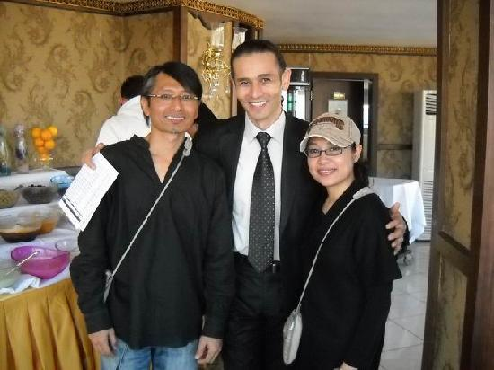 Us with Mr Ertugrul, Banquet Manager, Hotel Ipek Palas