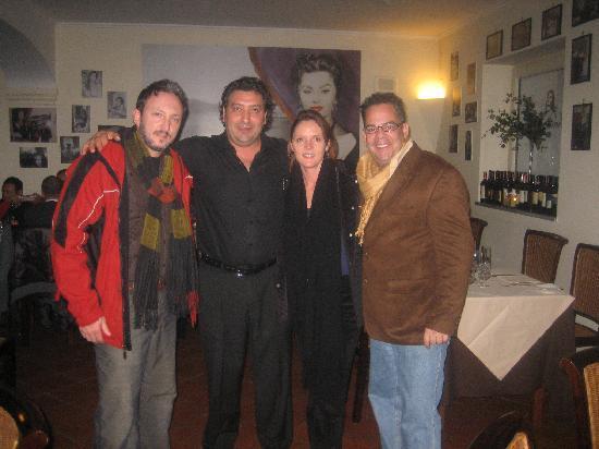 Ristorante Donna Sofia: With manager, Mario