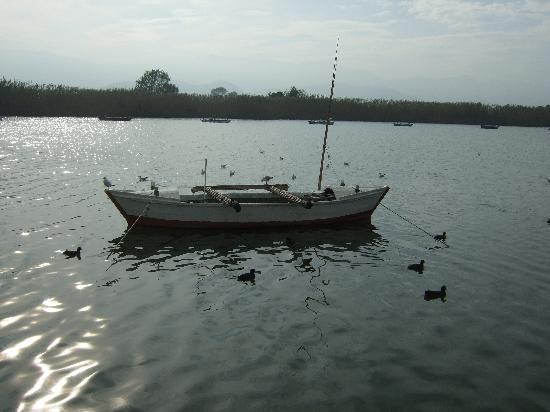Cullera, España: Barca al lado del restaurante
