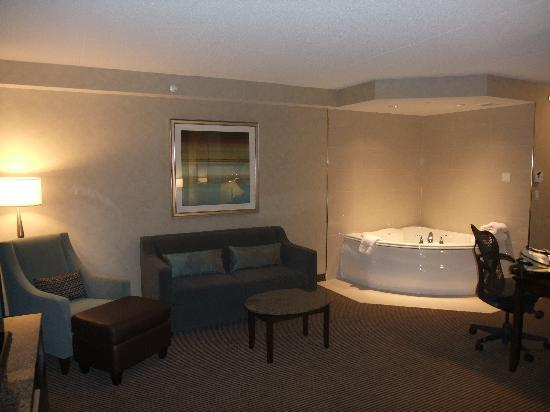 Hilton Garden Inn Toronto Airport West/Mississauga: Living room area/jacuzzi