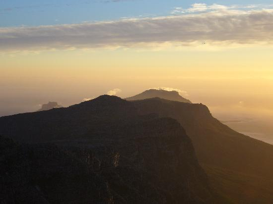 Cape Town Central, South Africa: Sunset on Table Mountain