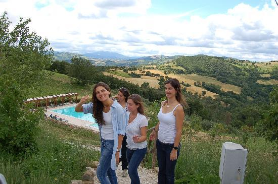 Villa Pian Di Cascina: Posing for the camera with the beautiful view behind us