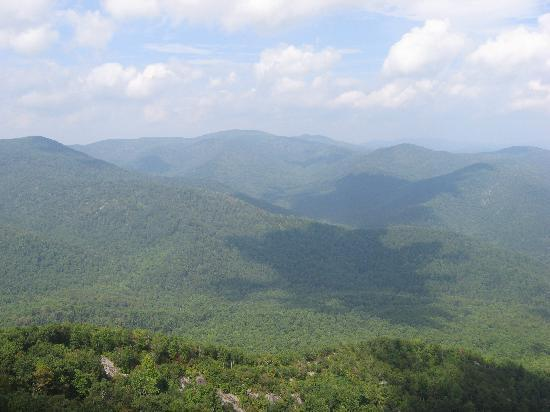 Sharp Rock Vineyards: view from Old Rag Mountain
