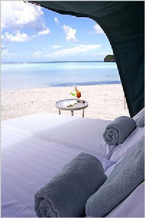 The Westin Resort Guam : ホテル前のビーチ