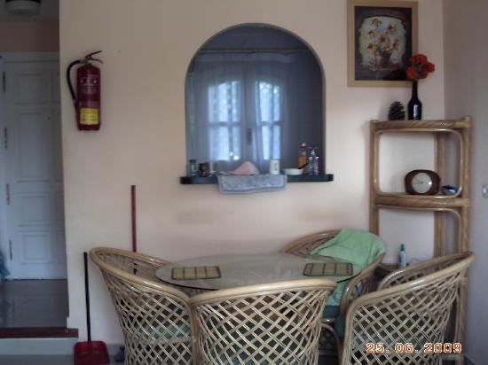 Apartamentos Verano Azul: DINING AREA.(date still wrong) October 2009